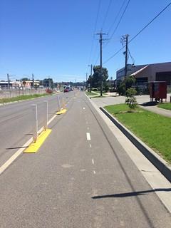 Temporary bike lane, Bayswater