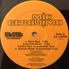 MIC GERONIMO:IT'S REAL(LABEL SIDE-A)