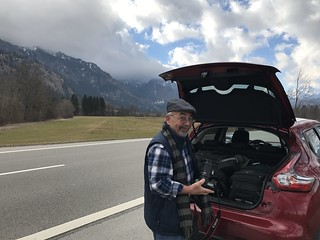 On the road to Schwangau