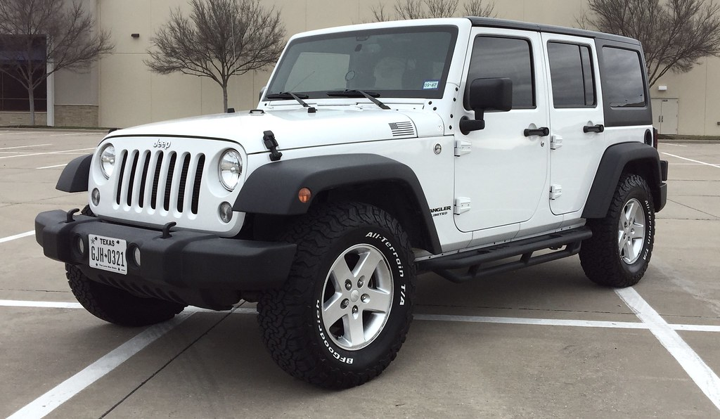 Attractive ... White Jeep Wrangler Unlimited On BFGOODRICH KO2 285/70/R17 All Terrain  Tires |