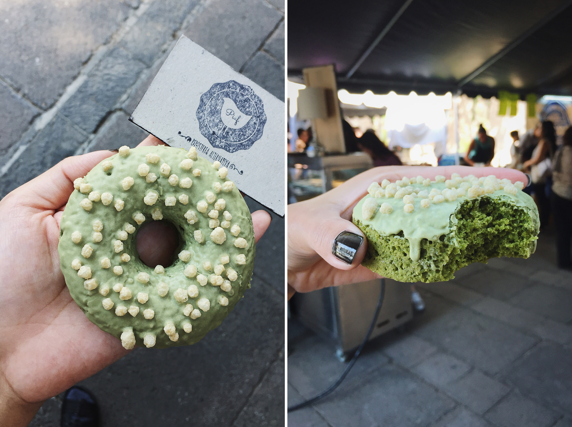 PIAF: Vegan & Gluten-Free Matcha Donut