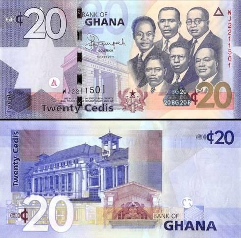 20 Cedis Ghana 1.7.2015, P39f