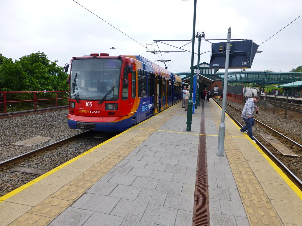 New Year Day Passing Stagecoach Sheffield SuperTram Depot With Old ...