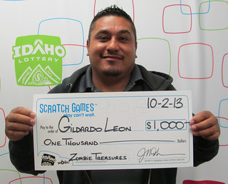 Gildardo Leon from Rupert, ID - $1,000 Zombie Treasures | by Idaho Lottery