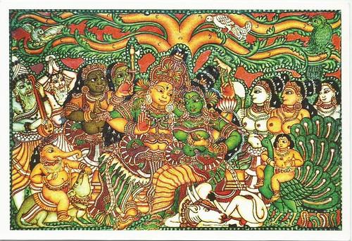 Temple mural kerala india no alfaro flickr for Ananthasayanam mural painting