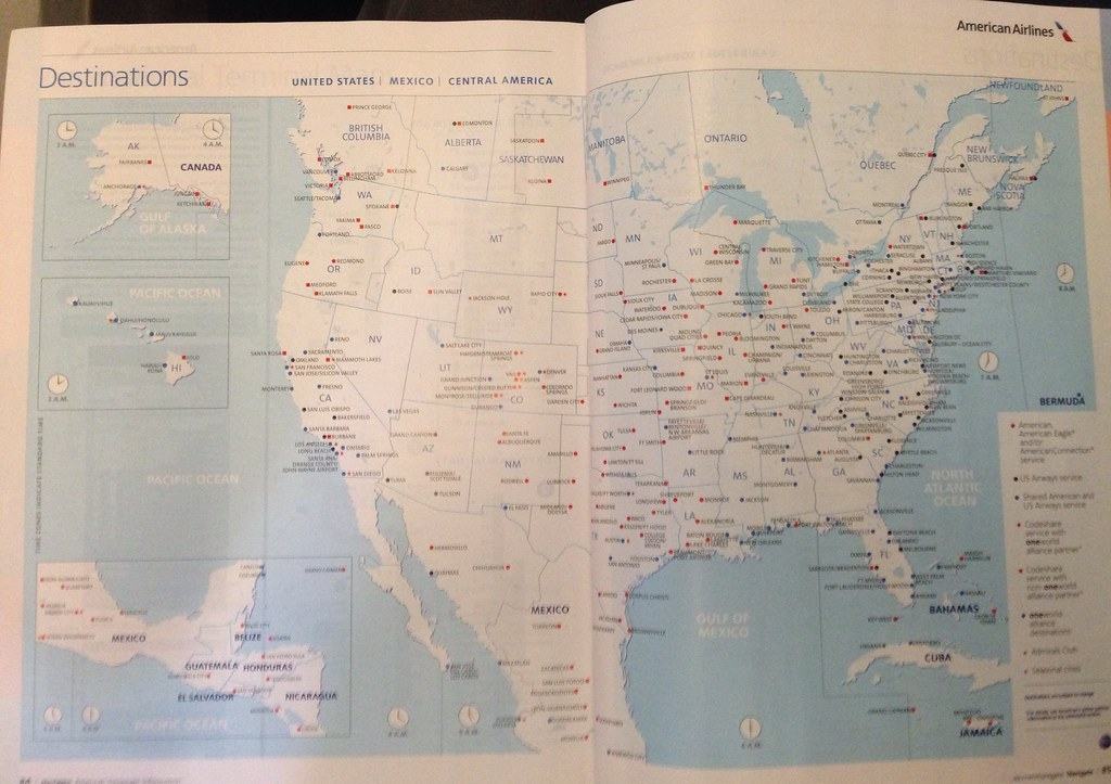 American-US Airways route map (AA version) | First combined … | Flickr