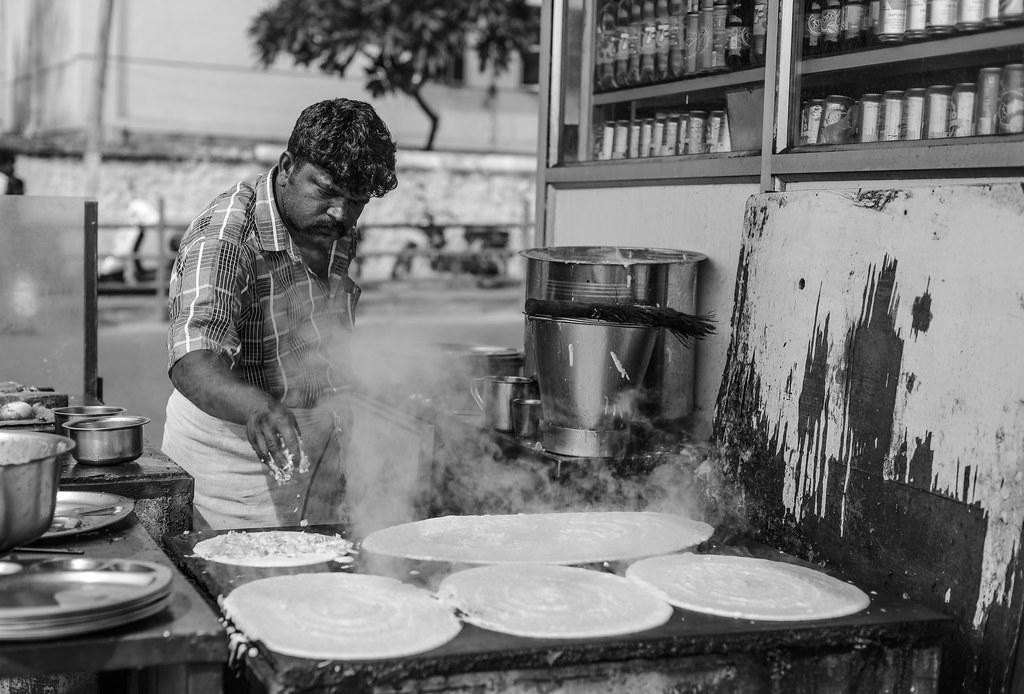 Indian street food bw by osaka ian