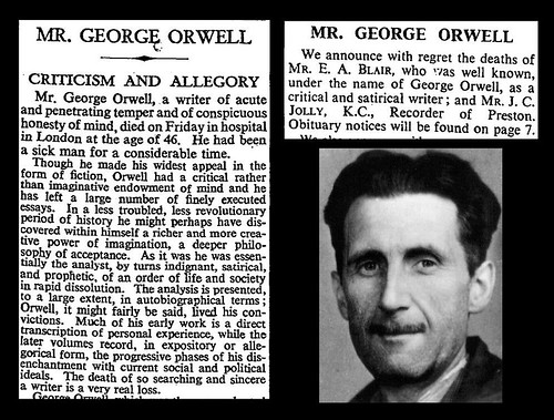 21st January 1950 - Death of George Orwell | by Bradford Timeline