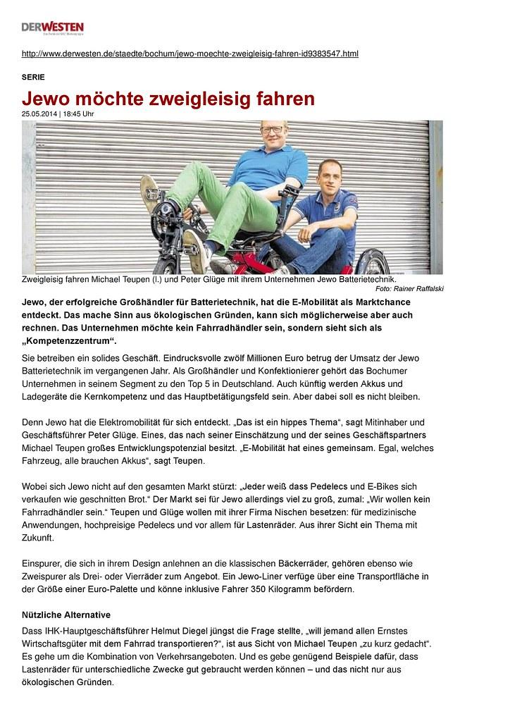 Zeitungsbericht . Batterietechnik & Elektromobilität | Flickr