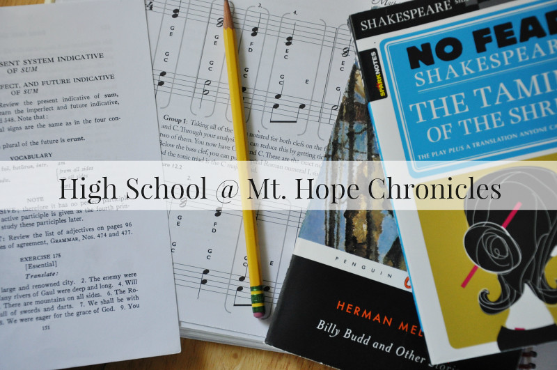 High School Plans @ Mt. Hope Chronicles