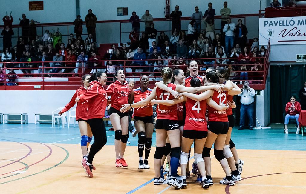 Ysabel Mora Xàtiva Voleibol Campiones de lliga nacional al guanyar 3-0 a l'Almeria