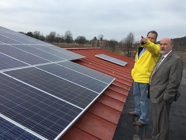 2-28-17 Mayor Madden Tours Installation of City Solar Energy System