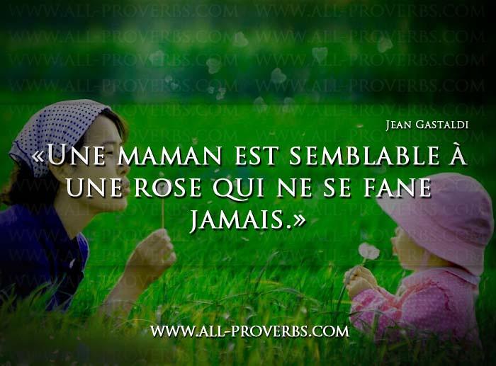 Une Maman Est Une Rose Www All Proverbs Com Quotes Citations