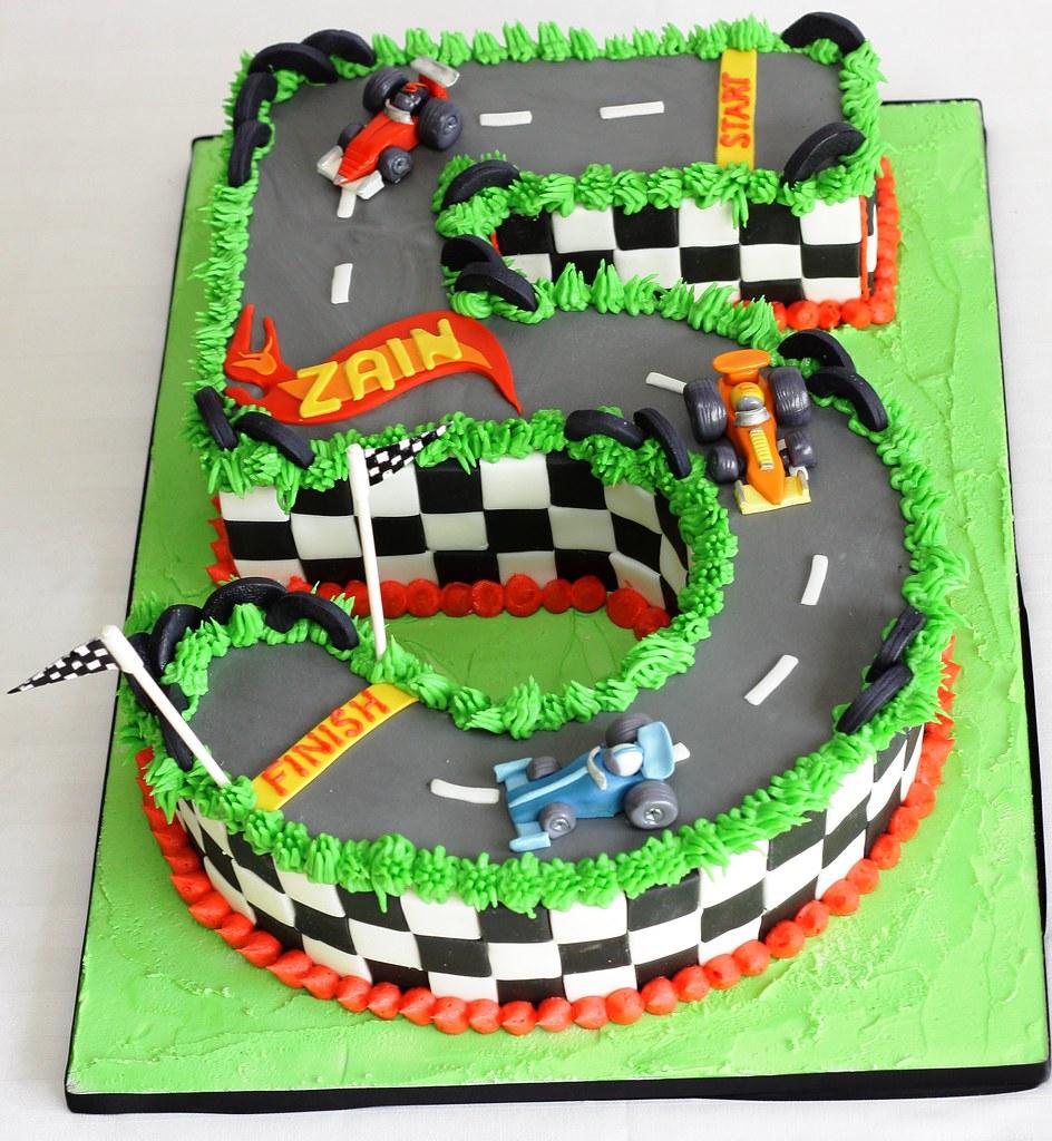 Hotwheels Styled Race Car 5th Birthday Cake Geraldine Horton Flickr