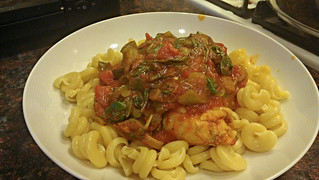 Cooking: Chicken marsala on curly pasta | by dharder9475