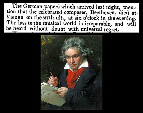 27th March 1827 - Death of Ludwig Van Beethoven | by Bradford Timeline