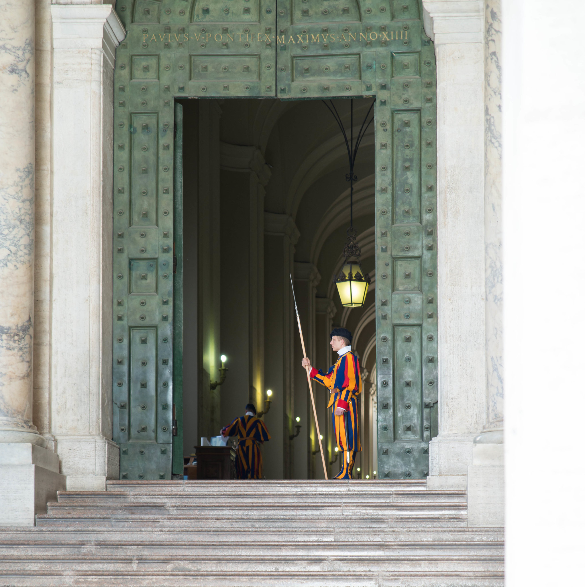 Vatican swiss guard at his post