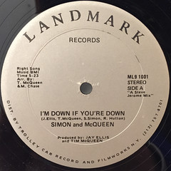 SIMON AND McQUEEN:I'M DOWN IF YOU DOWN(LABEL SIDE-A)