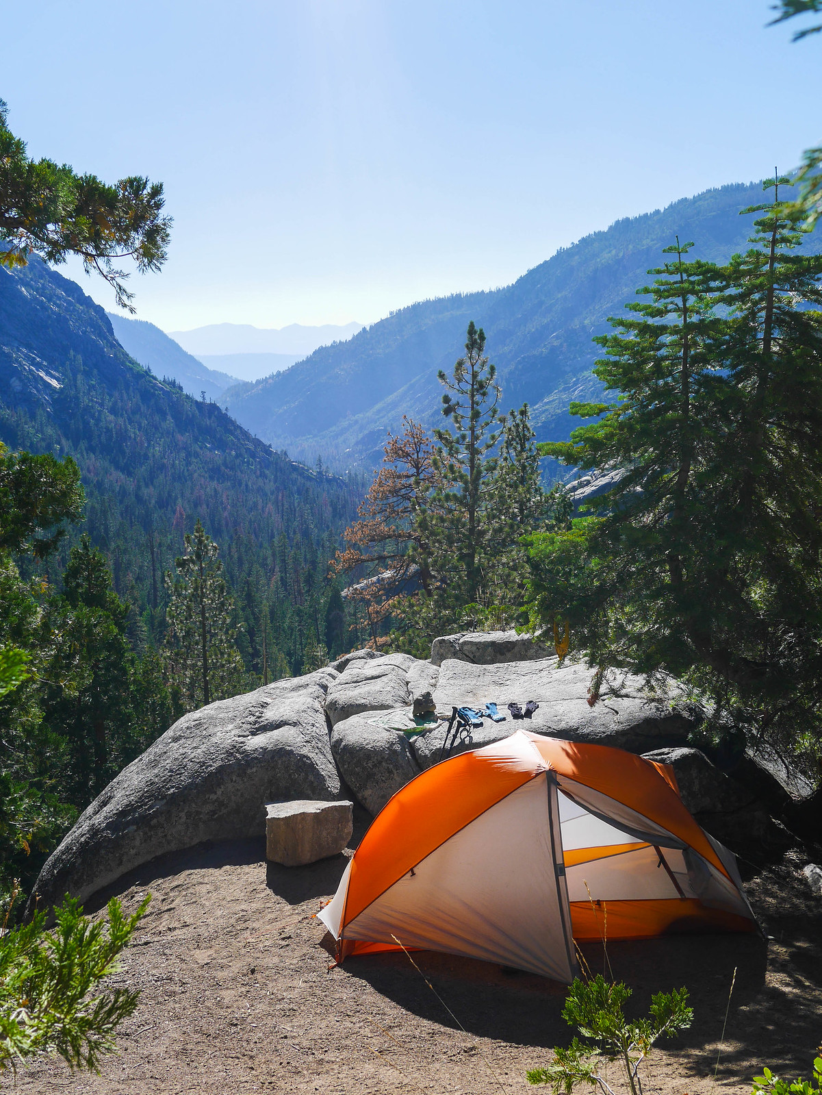 Camp with a view down Fish Valley