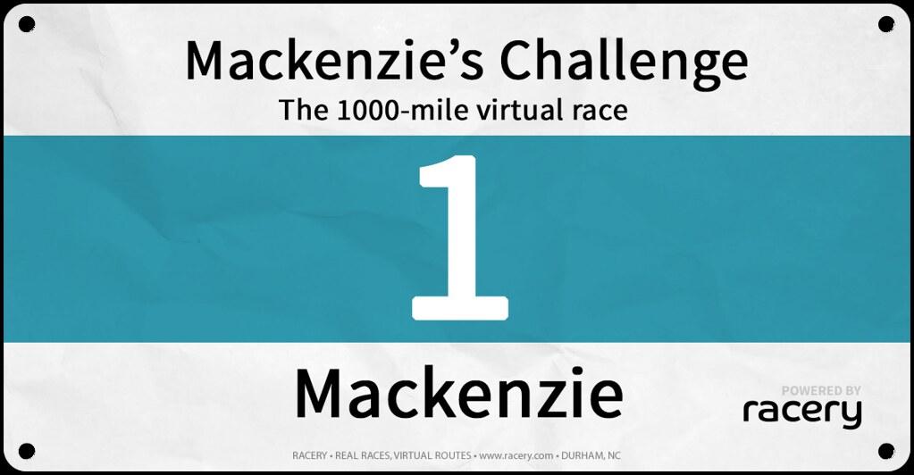 Mackenzie Race Bib