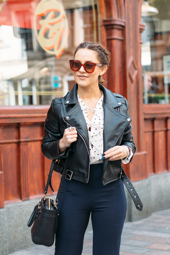 The Little Magpie Topshop Polka dot blouse