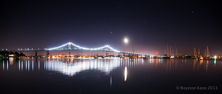 Jupiter and the Moon Rise over Newport-1 | by Royston_Kane