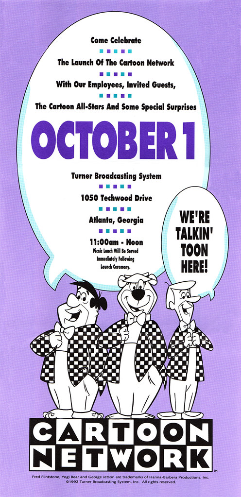 Cartoon Network Launch Ad, 1992   Invitation for the launch …   Flickr