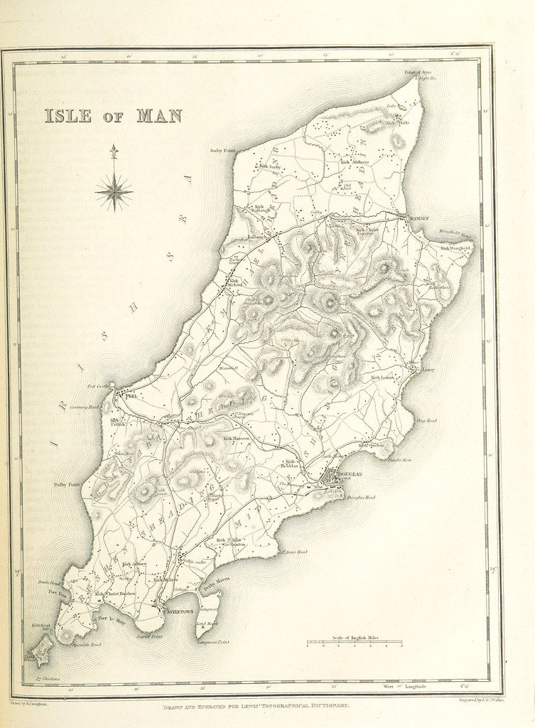Guernsey England Map.Image Taken From Page 221 Of A Topographical Dictionary Flickr