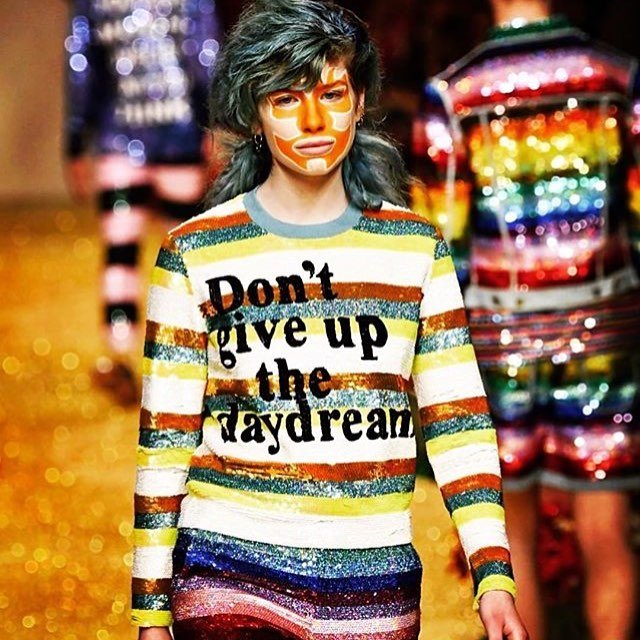Preeeetty much obsessed with designer @ashish_uk 😍🌈✨✨