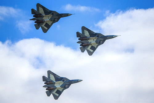 T-50 PAK FA Group Flight | by RealHokum