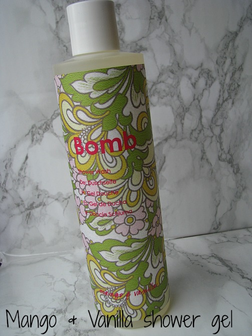 bomb cosmetics mango & vanilla shower gel