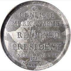 Washington Manly Medal reverse