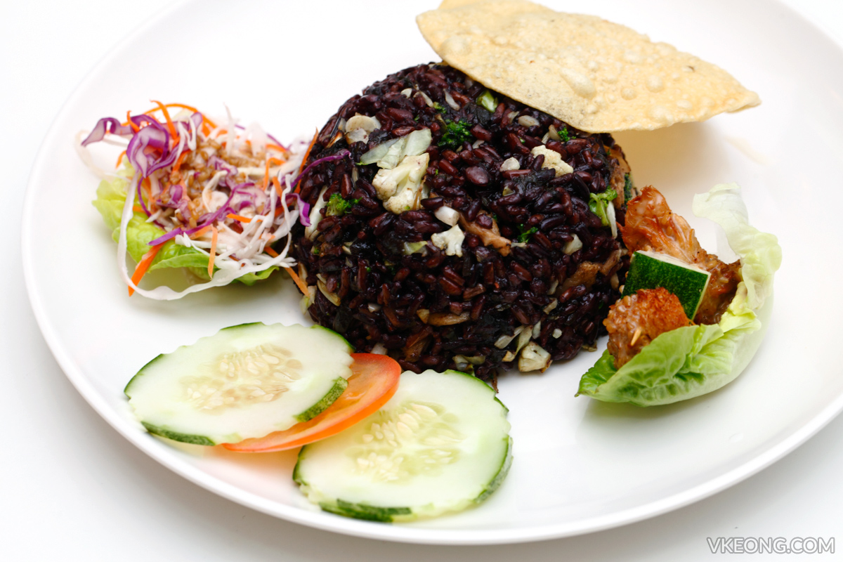 Wellness Recipe Fried Black Rice Monkey Head Mushroom