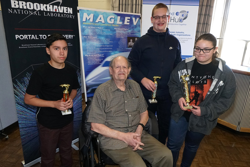 Robert Moses Middle School Sweeps Two Categories to Win Top Honors at Brookhaven Lab's Maglev Contest