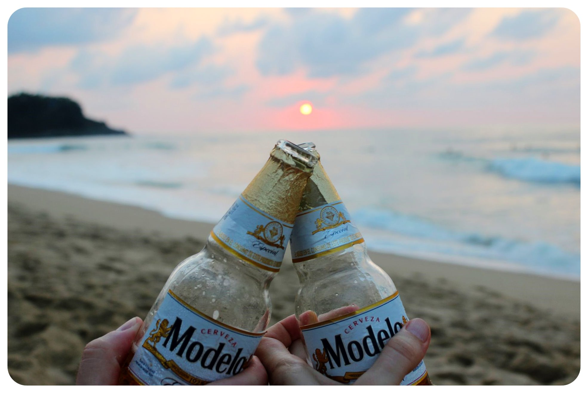 san pancho sunset beers mexico