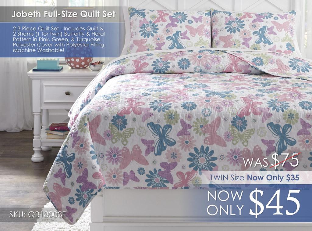 Jobeth Full Size Quilt Set Q318003F