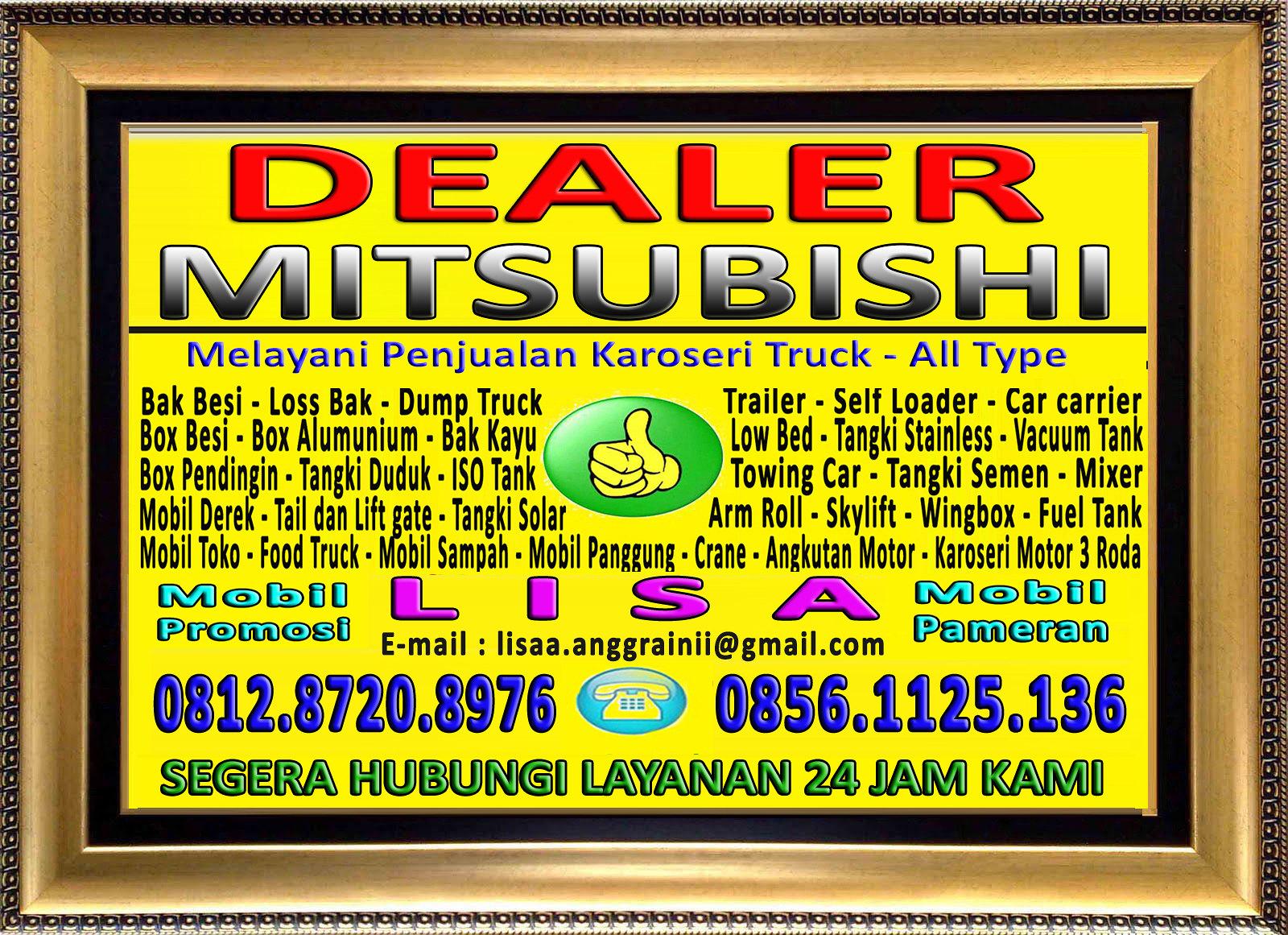 Bingkai Logo Dealer Mitsubishi - Lisa