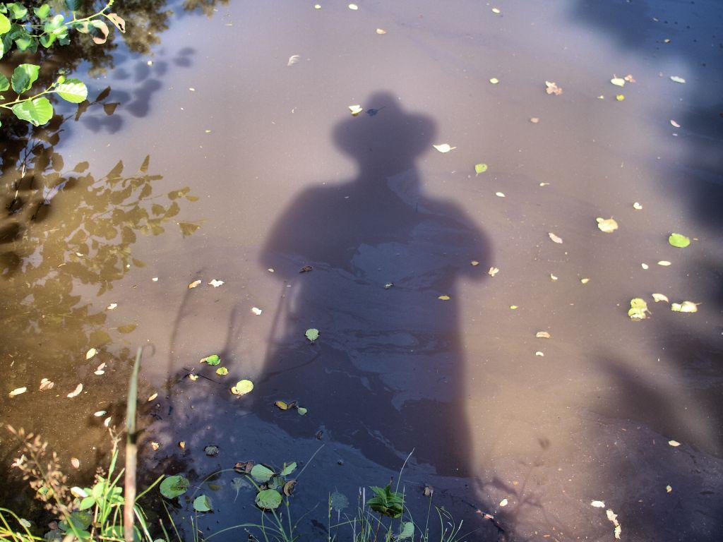 Schatten mit Hut