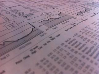 Stock market quotes in newspaper | by AndreasPoike