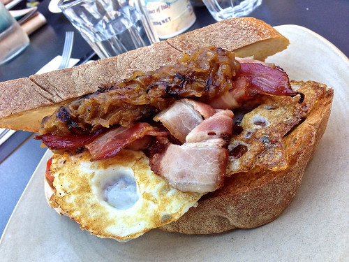 Egg and bacon sandwich at Speakeasy in South Yarra | Flickr