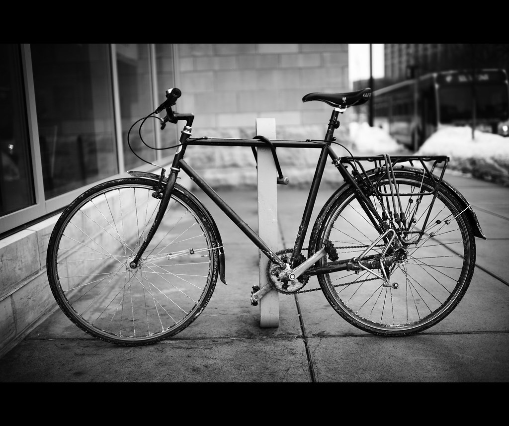 Black And White Bicycle Just Another Urban Bike Flickr