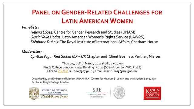 Invitación panel género KCL 30mar2017