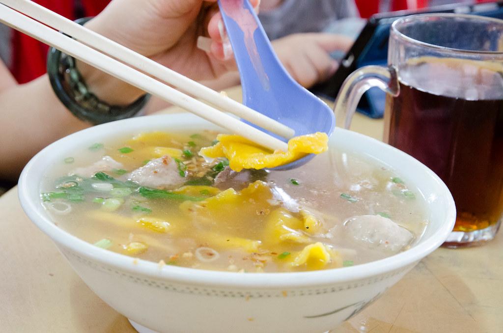 Pumpkin noodle at Restaurant Riri Fatt Sekinchan.