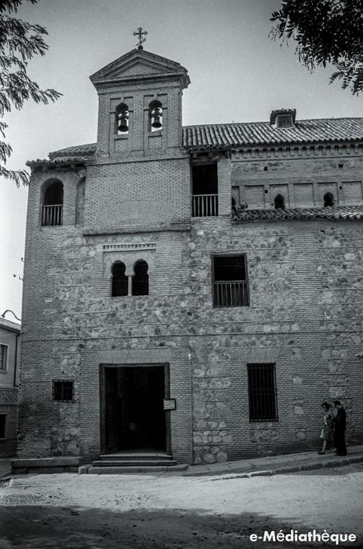 Sinagoga del Tránsito en Toledo en agosto de 1965. Fotografía de Jacques Revault © e-Médiathèque | Médiathèque SHS de la Maison méditerranéenne des sciences de l'homme