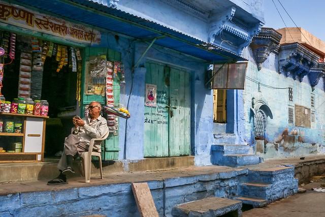 Beautiful blue street, Jodhpur, India ジョードプル ステキな青い路地