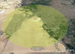Giza Pyramid 10 kilometer diameter