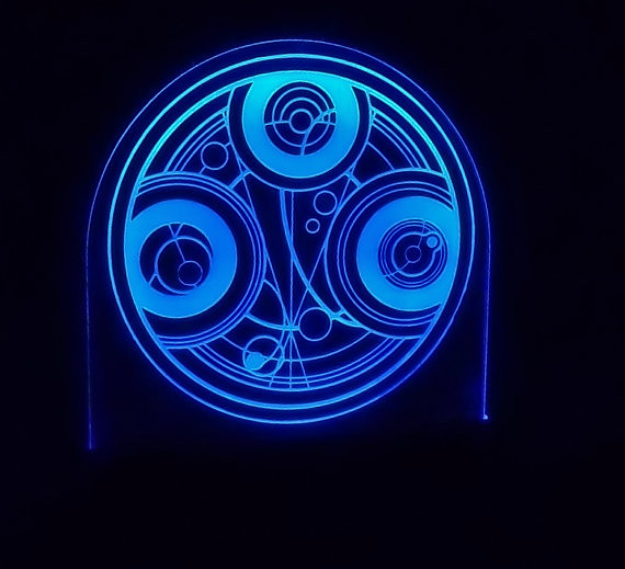 Symbol Of Gallifreys Time Lords Doctor Who Edge Lit Acry Flickr