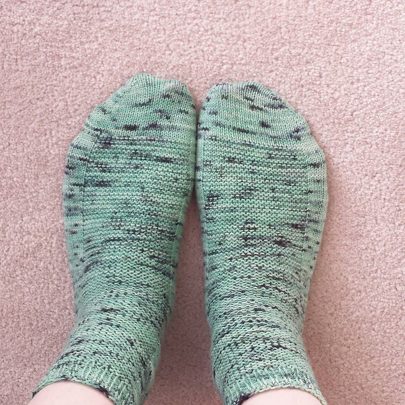 Tuesday #dailyknitsocks 💚 #knittersofinstagram #socktawk #sockstagram #sockknittersofinstagram