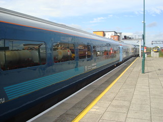 Arriva Trains Wales 'premier service' mark 3 coaches at Cardiff Central