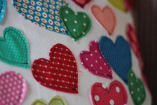 hearts pillow | by artsy-crafty babe
